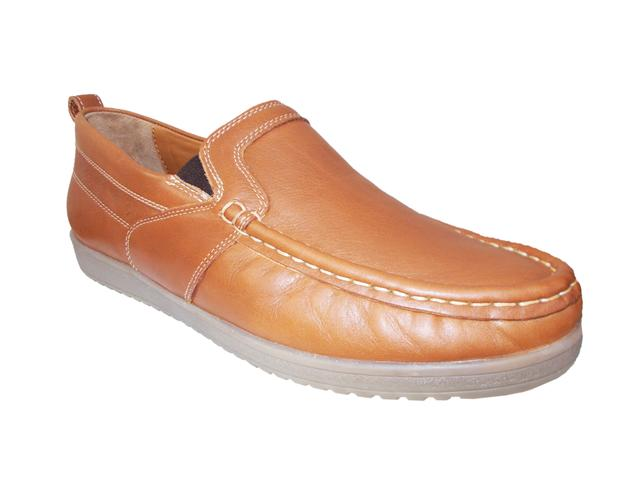Port Exclusive Classic Brown Leather Loafer For Men