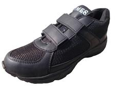 Port Girl's Black School Shoes