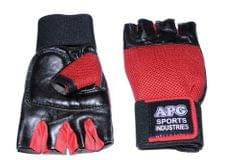 APG Red Net Gym Gloves Half Finger gloves