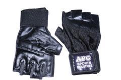APG Gym Gloves for men Half Finger gloves with adjustable strap / Hand Support / Wrist Support
