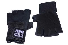 APG GG1 Leather Gym Gloves(Black)