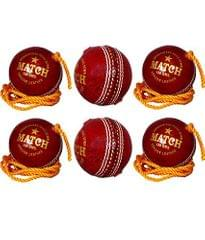 APG RED STRING CRICKET BALL (Pack Of 1)