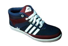 Just-In Men's New Branded Black & Maroon Casual Shoes