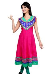 Port Women's embroidered Cotton Kurties