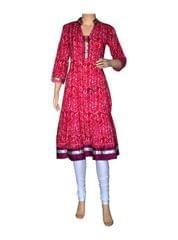 Port Multicolored Casual Cotton Kurti For Women's