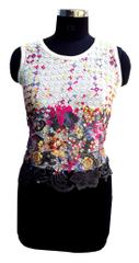 Port Fashionable Multicolored Crochet Top