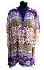 Port Multicolored Casual Chiffon Kaftans