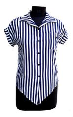 Port Polyester Striped Shirt For Women's