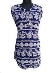 Port Blue Printed Top For Women's