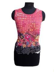 Port Multicolored Crochet Top For Women's