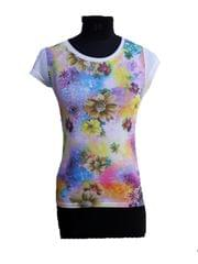Port White Floral Printed Top For Women's