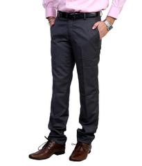 Peter England  Regular Flat Grey Trousers