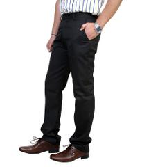 Peter England Black Regular Flat Trousers