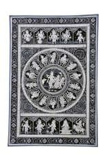 PattaChitra - Krishna Raas Leela with dashavatar in black and white