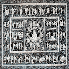 Pattachitra - Ganesha Story in Black n White