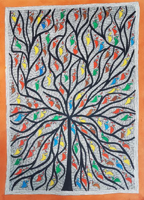 Madhubani Painting - Tree of Life
