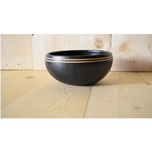 Set of 2 Bowls with double Cane Ring of different sizes