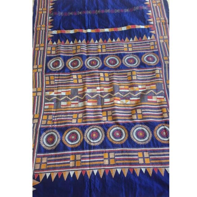 Kantha - Geometrical Genius - Blue Silk