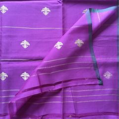 Purple Cotton Silk Dupatta