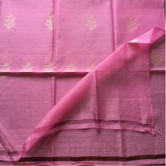 Pink Cotton Silk Dupatta