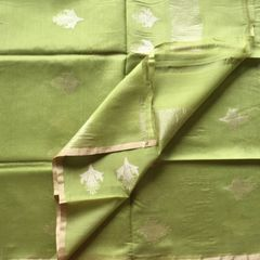 Green Cotton Silk Dupatta