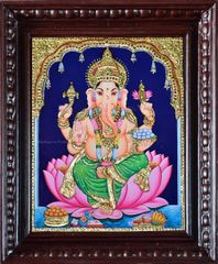 Lord Ganesha - Tanjore painting
