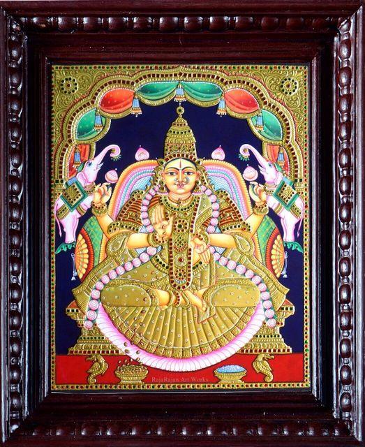 Gajalakshmi - Tanjore Painting