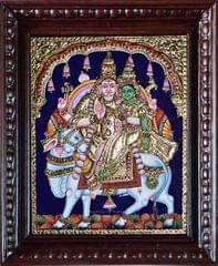 Shiva and parvati - Tanjore Painting