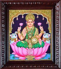 Classic Gajalakshmi - Tanjore Painting