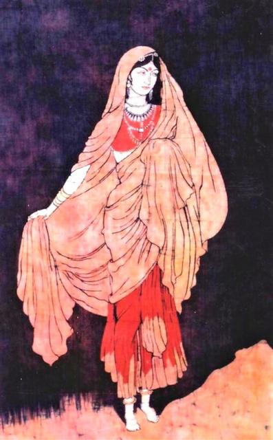 Baatik Painting - Dancer