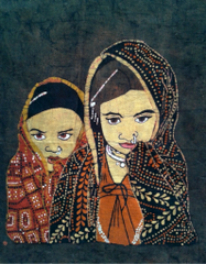 Baatik Painting - Two Tribal Sisters