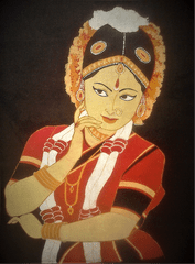 Baatik Painting - Bharatanatyam Dancer