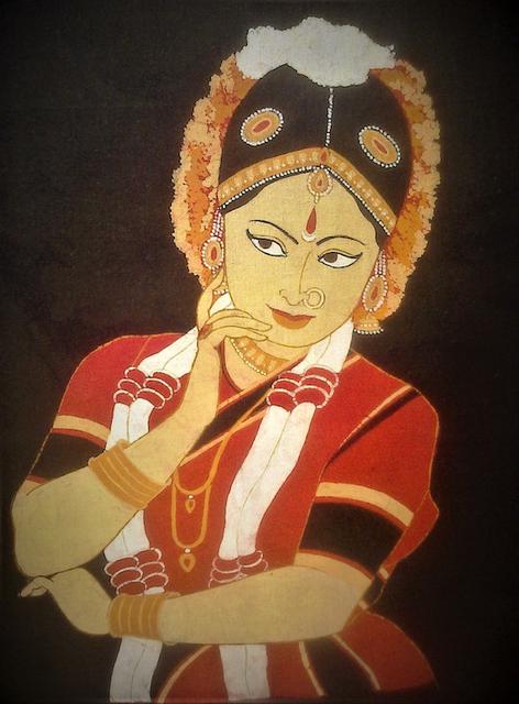 Baatik Painting - Bharatanatyam Dancer