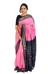 Rekha Buti Saree Pink And Royal Blue