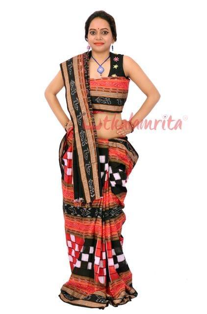 Pasapalli Bichitrapuri in Red Black and White