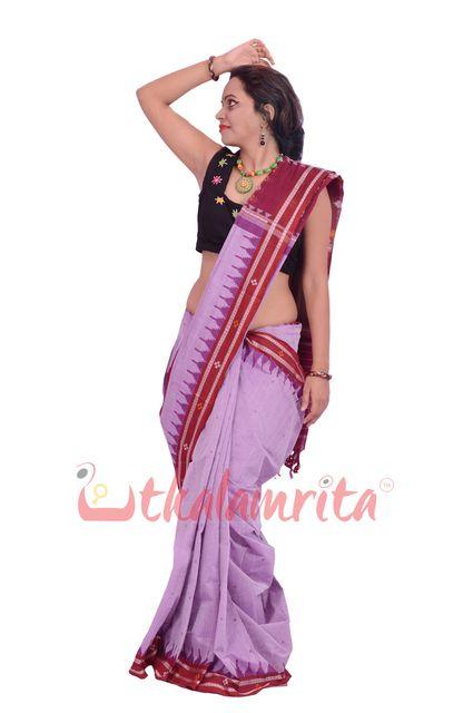 Phoda Kumbha Saree In Purple Bafta
