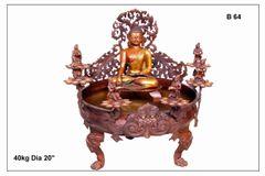 Meditating Buddha In Antique Finish - Urli