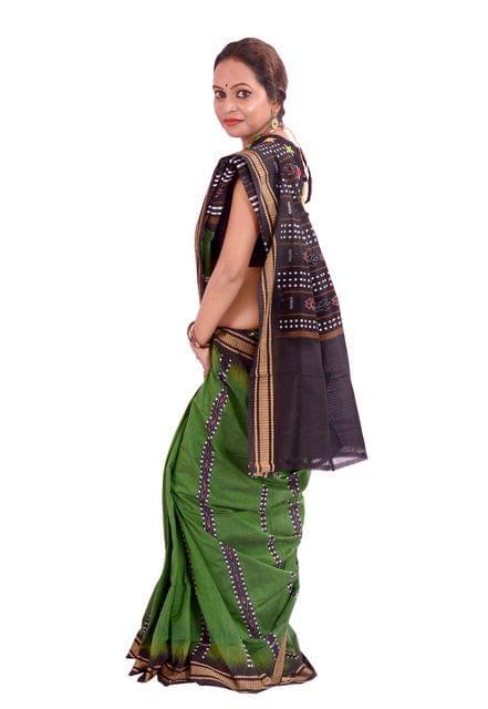 Sambalpuri - Bandha Saree In Green