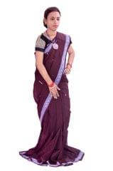 "Maniabandhi ""Saree"" In Coffee Colour"