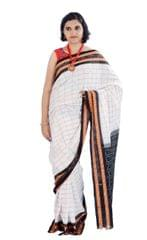 Odisha's Sachipar Saree In White and Black With Big Checks