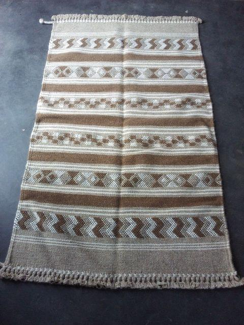 """Brown Kharad """"Durrie"""" with various motifs"""