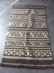"Dark Brown Kharad ""Rug""  with various motifs"