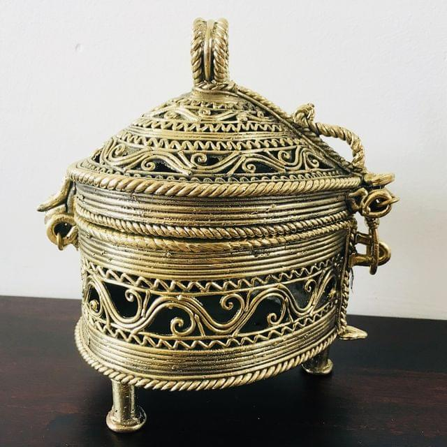 Dhokra - Pear Drop Shaped Box