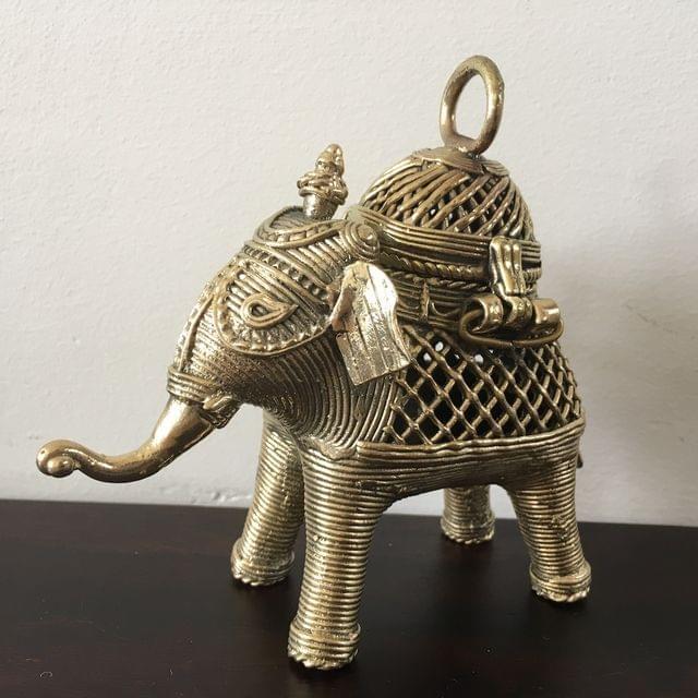 Dhokra - Elephant Box - Small
