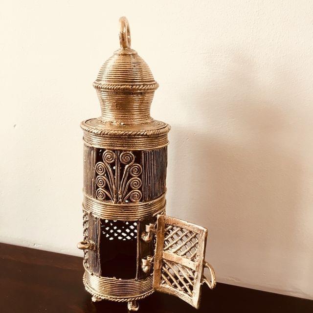 Dhokra -  Lantern With Door