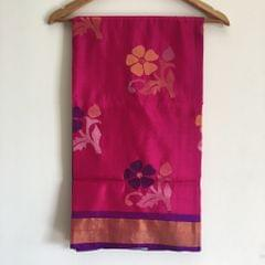 "Saree ""Uppada Jamdani - Pink and Purple"""