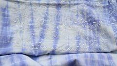 Chikankaari on Shibori Mul Kurta - Blue