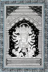 Pattachitra Panchamukhi Hanuman