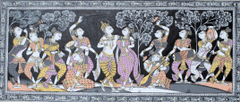 Tassochitra - Krishna Raas Leela in Subtle Colours