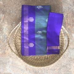 Uppada Silk - Green And Blue